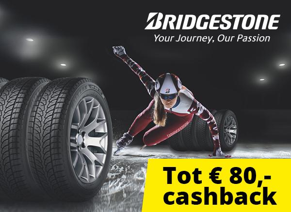 Bridgestone cashback actie! Bekijk de voorwaarden